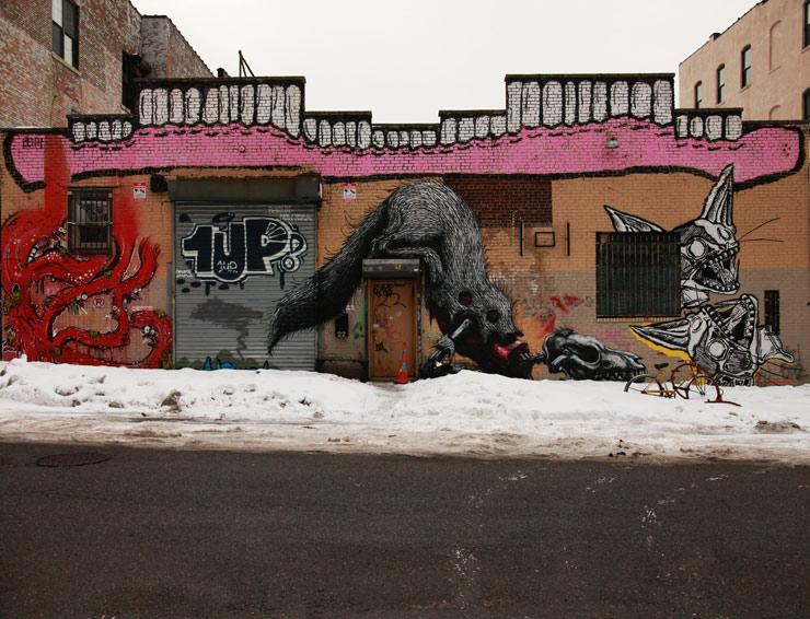 brooklyn-street-art-sweet-toof-keely-roa-deeker-jaime-rojo-02-23-14-web