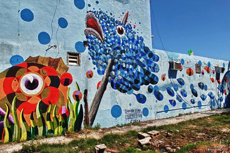 Brooklyn Street Art Le Super Demon Luna Azul