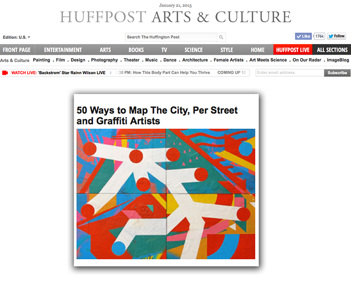 50 Ways to Map The City, Per Street and Graffiti Artists