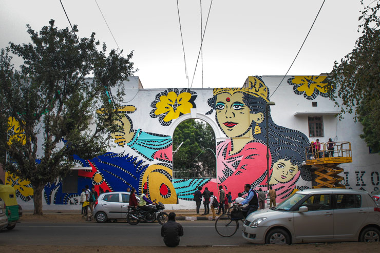 AIKO in New Delhi for St+Art India 2015
