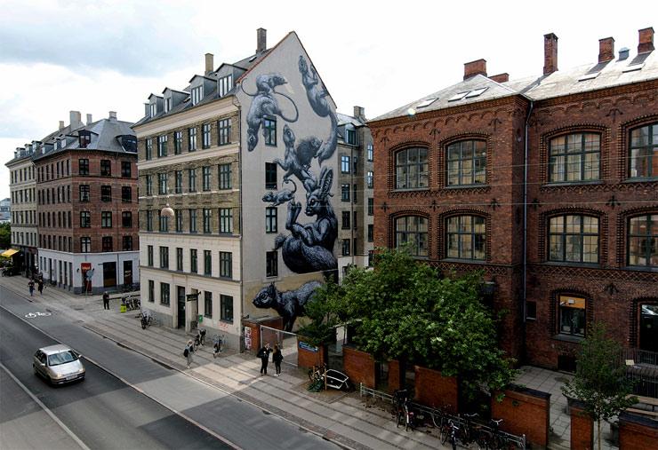 surface brings 6 new murals to copenhagen brooklyn street art. Black Bedroom Furniture Sets. Home Design Ideas