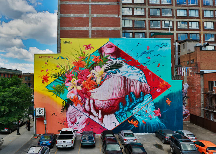 A selection of murals from mural in montreal 2016 for Mural festival