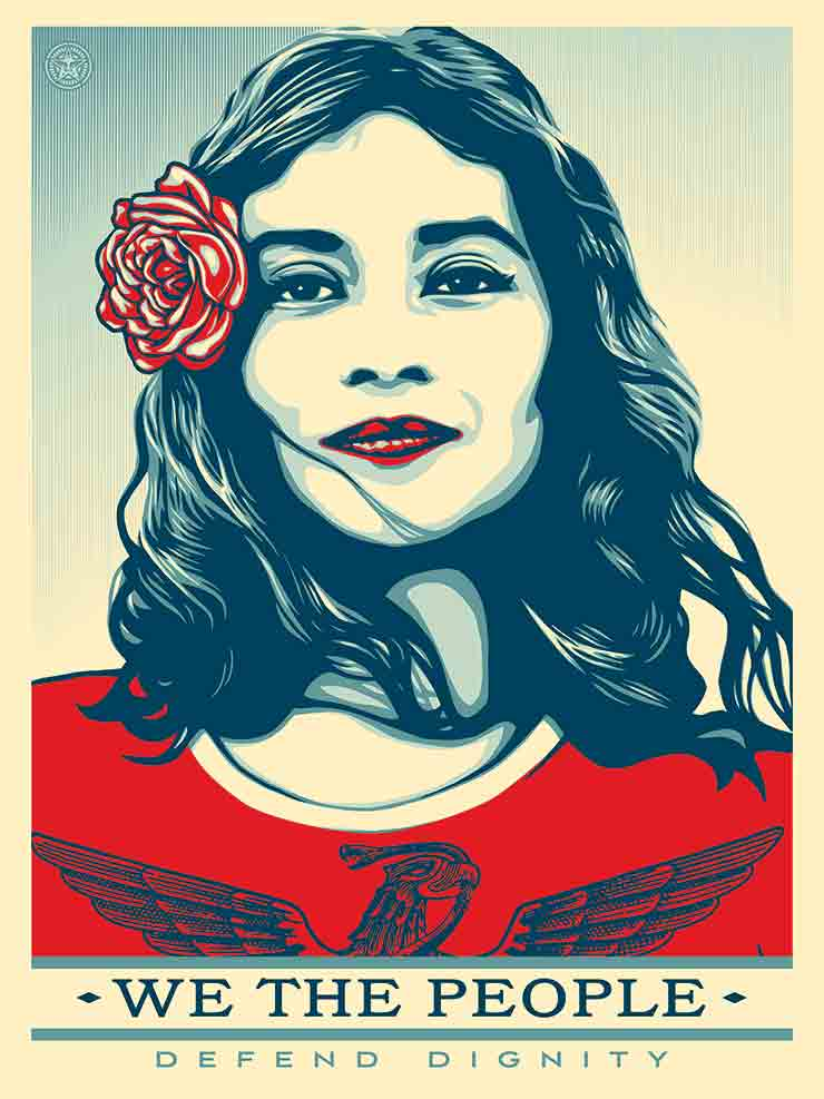 """Fairey & Friends Respond Graphically: """"We The People"""" & Women's March Posters for Download"""