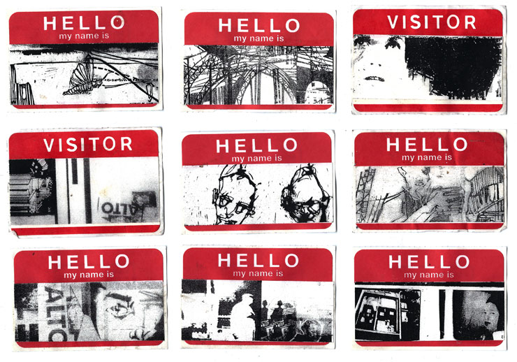 Hello My Name Is 1999 These Stickers Hand Made Were One Of Swoons Earliest Street Art Projects Photo Courtesy Swoon Studio