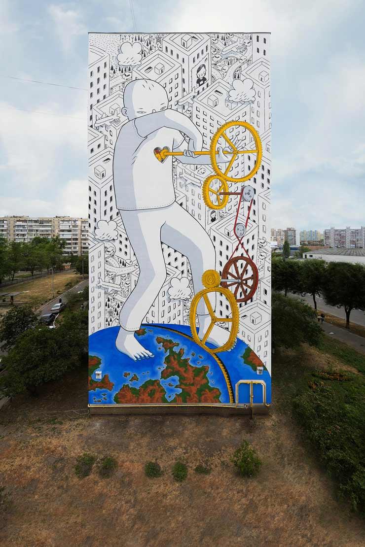 Brooklyn street art for Arte colectivo mural