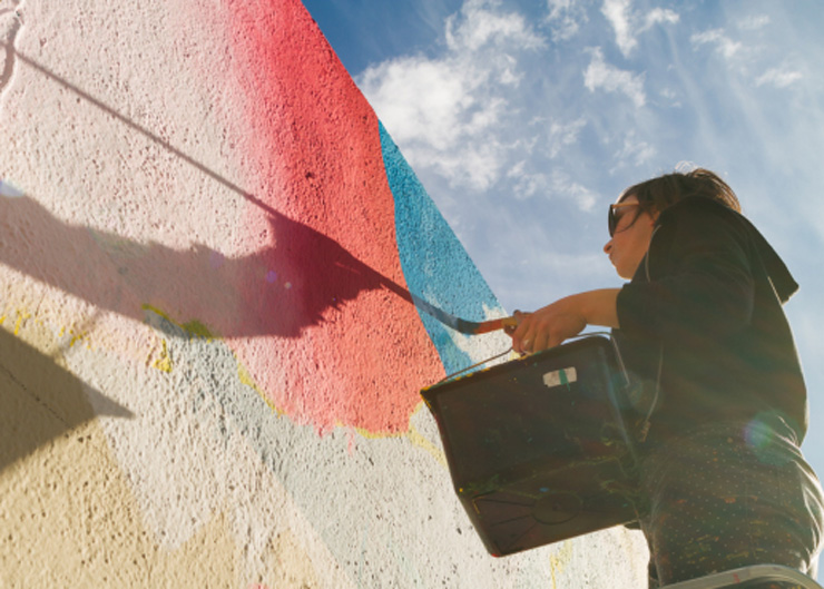 Elara Elvira Community Mural for Contorno Urbano 12 + 1 in Barcelona