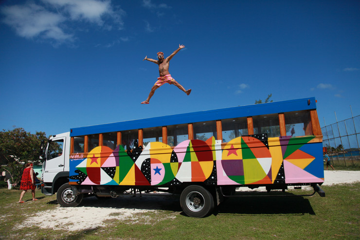 The Painted Buses of Raiatea and Bora Bora – French Polynesia