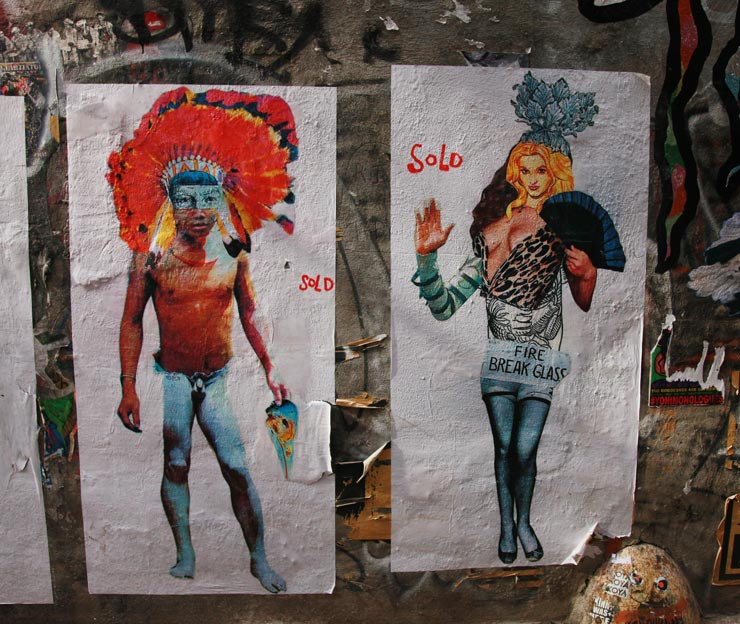 El Sol 25 Mashes Figures on Street Poster Exhibition in The LES