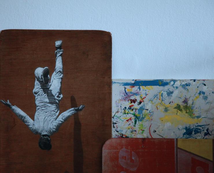 Strøk in Studio: Isometric Figures, Stencils, and Old Doors in Berlin