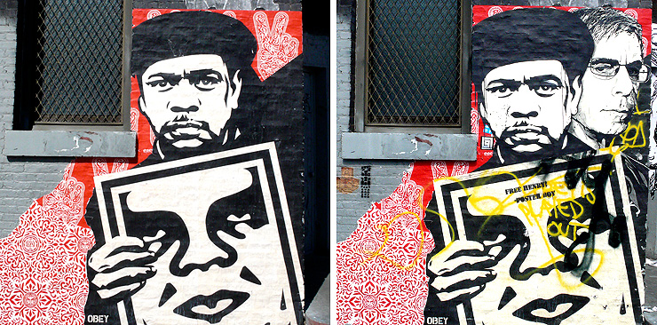 Specter Spot-Jocks Shepard Fairey in New York City