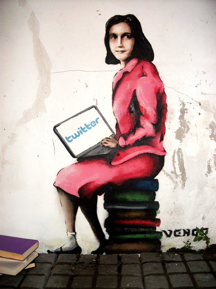 Follow @AnneFrank : Street Art, Twitter and History
