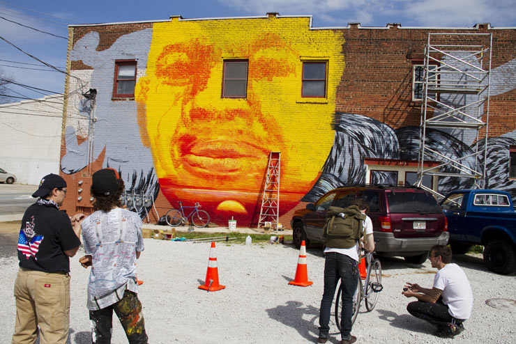 """The Sunrise of Edgewood"", GAIA & Nanook open Living Walls Atlanta 2012"