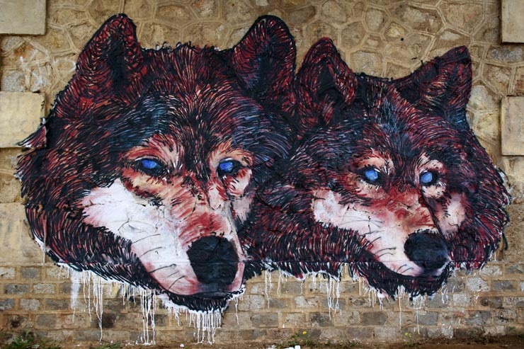 Jeice2 Brings 2 Wild Wolves in Gerena, Spain