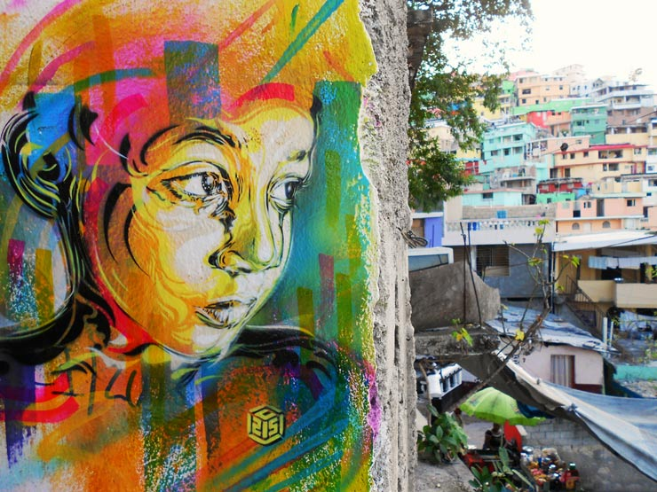 Stencil Street Artist C215 Explores Haiti in Full Color