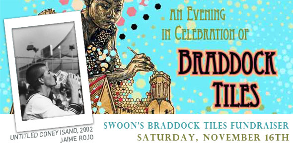 "BSA's Jaime Rojo at Swoon's ""Braddock Tiles"" Fundraiser Saturday"