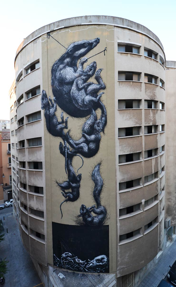 ROA Gets Up With New Animals In Tow