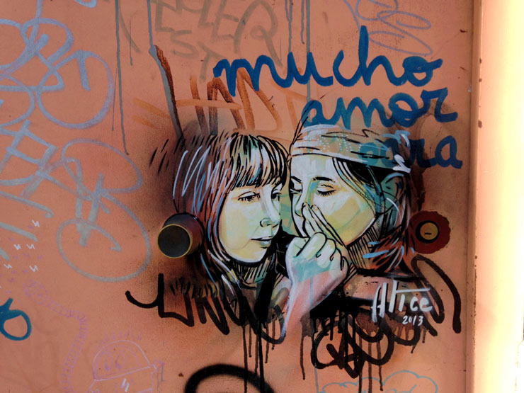 Alice Pasquini on the Streets of Madrid