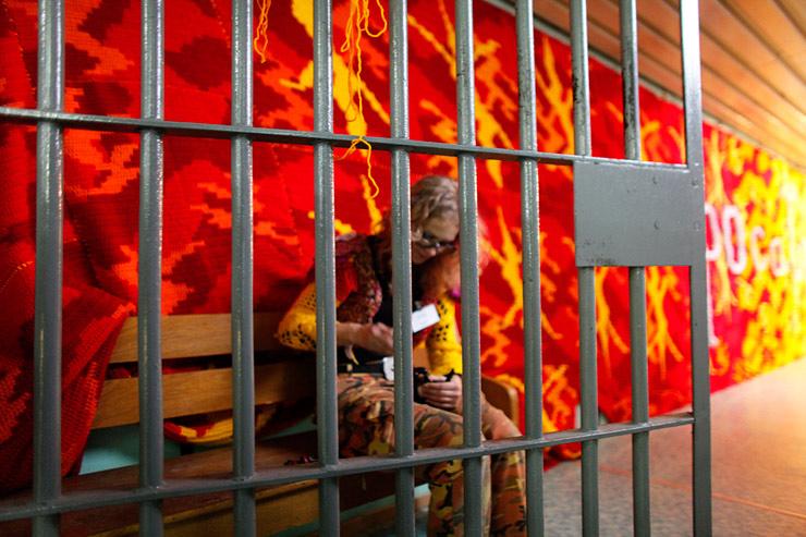 Street Artist Olek Goes To Jail in Poland