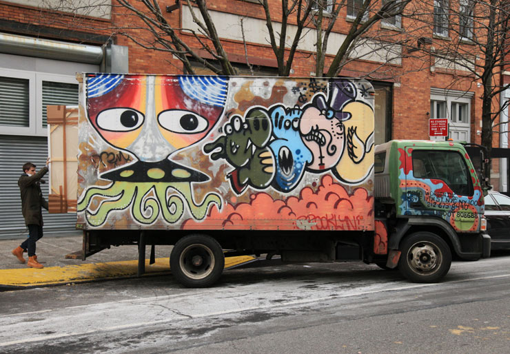 Box Trucks as Rolling Graffiti Marquees