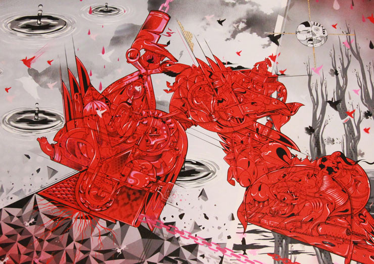 How & Nosm's Red, Hot, Scorching Monoprints Unveiled