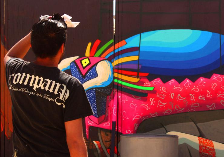 Spaik and Libre Collabo Mural in Mexico City