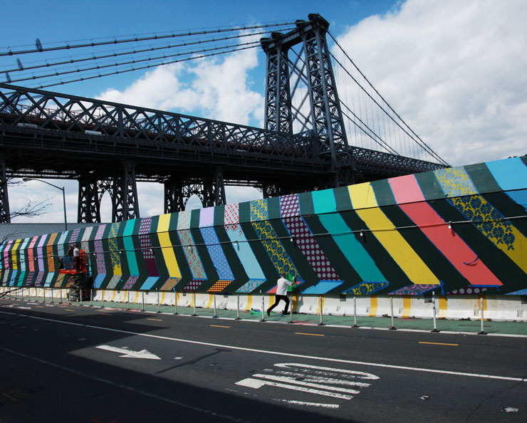Hellbent, Rubin, and Aakash Nihalani In Progress on Domino Walls in BK