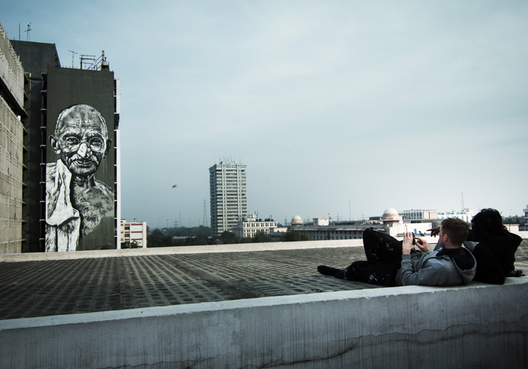 India's First Street Art Fest and the Largest Ghandi Portrait Ever