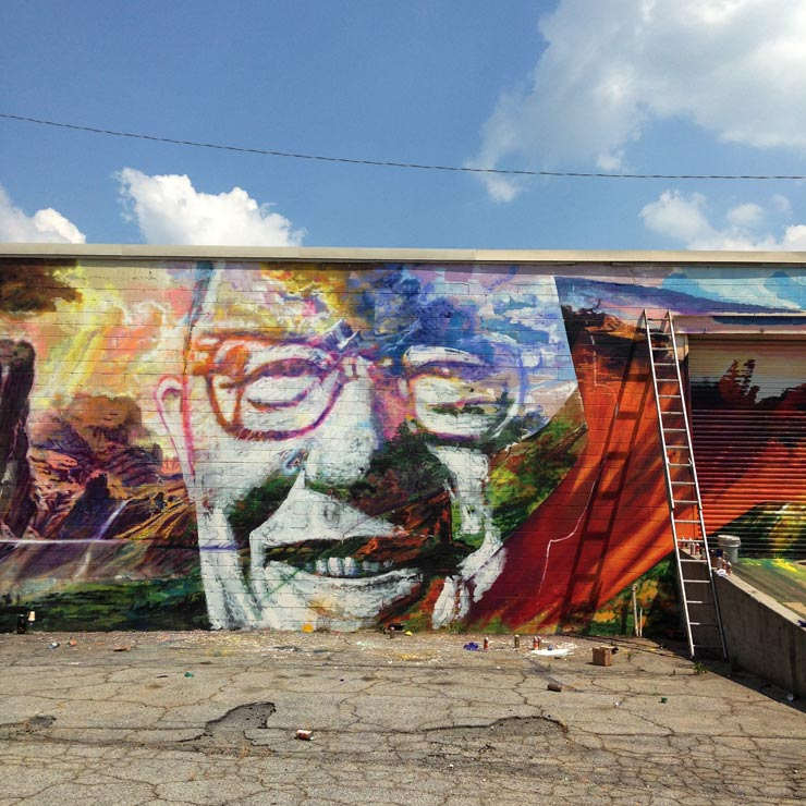GAIA :  New Mural Work in Greenville, Atlanta, Detroit