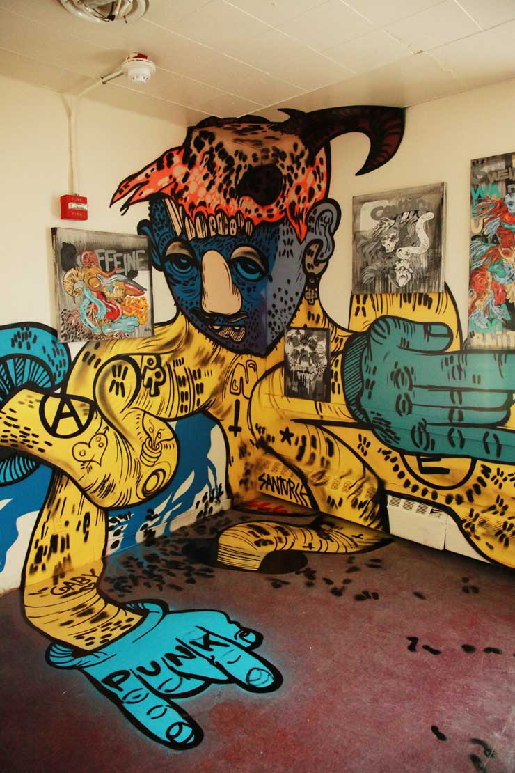 "Graffiti and Street Art Lock Up ""21st Precinct"" in New York"