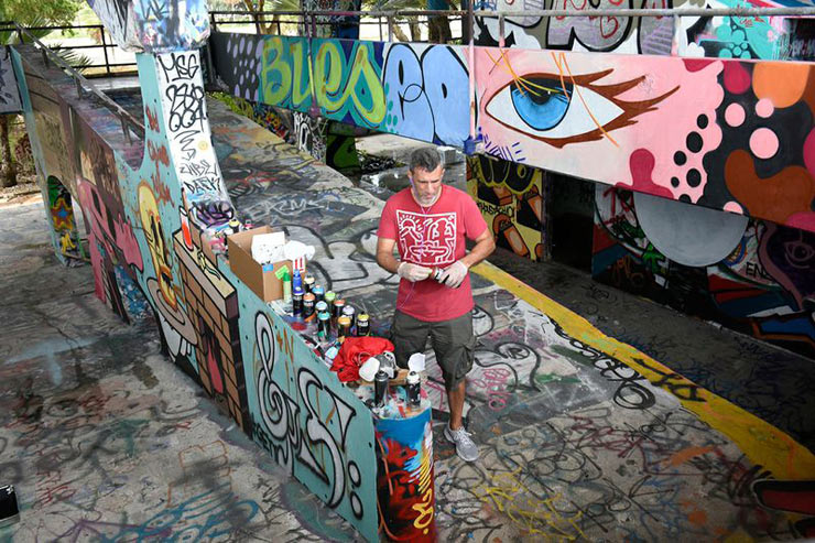 A Miami Waterfront Stadium Slaughtered by Street Artists to Save It