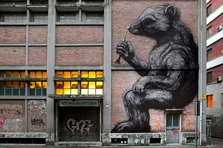 ROA and An Orphaned Bear in Rome