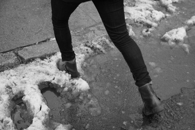 Here Is New York… Puddle Jumping and Snowbank Hopping