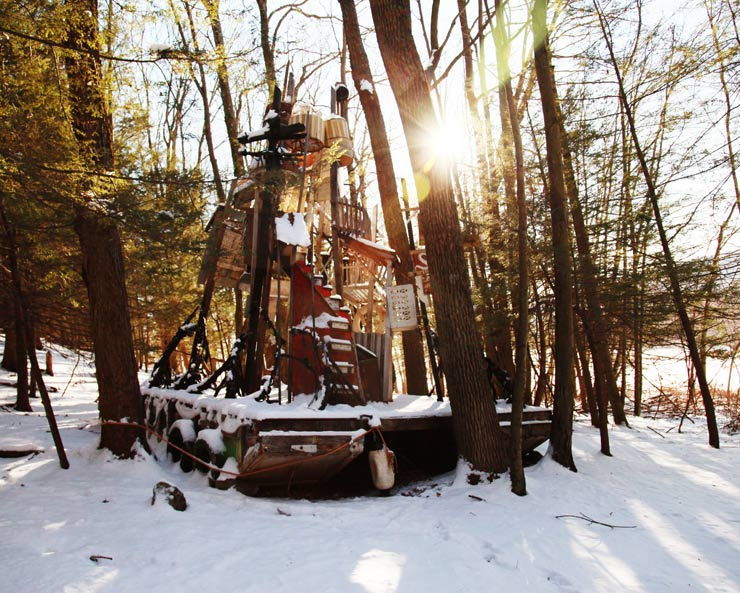 Skiing Cities of Serenissima : Swoon Vessels in the Snowy Woods