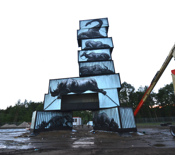 ROA TOWERS : New Shots from UK, Belgium, Sweden, Mexico, Germany, Italy and the US