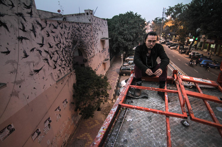 Axel Void and DalEast In New Delhi for St+ART India 2015