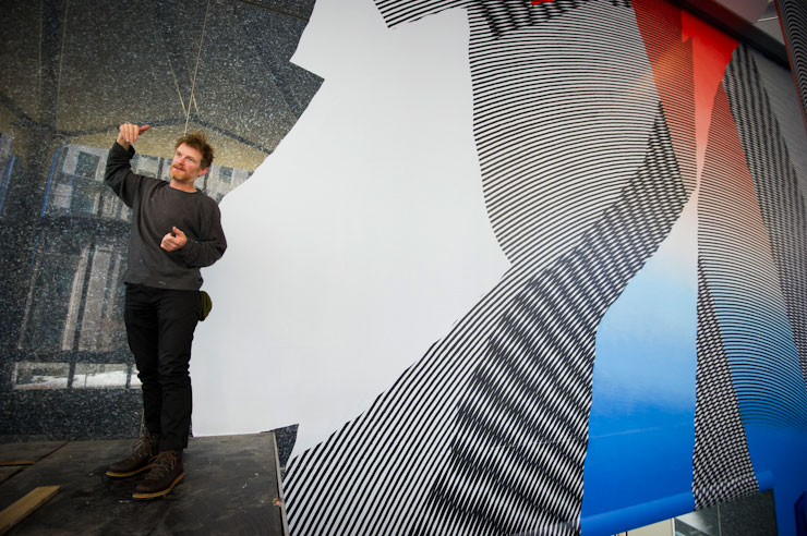 MOMO Paints Massive Work Across Lobby in Boston