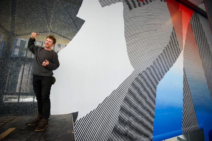 MOMO Paints Massive Work Across Lobby in Boston