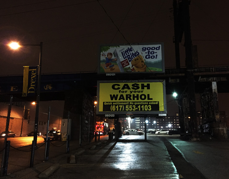 "Cash For Your Warhol (CFYW) Says ""No Questions Asked"" in Philadelphia"
