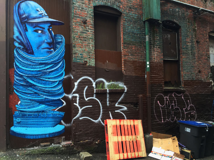 "OverUnder in Seattle: Peculiar Portraits & Mural for ""Urban Artworks"""