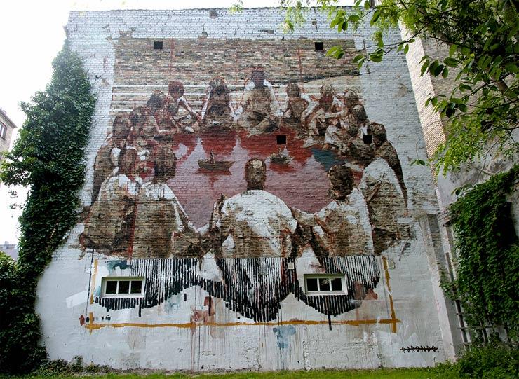 Borondo Street Art Werk in Kopenhagen