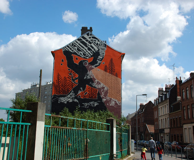 Hell'o Monster and M-City at the Urban Art Biennale in Lille, France