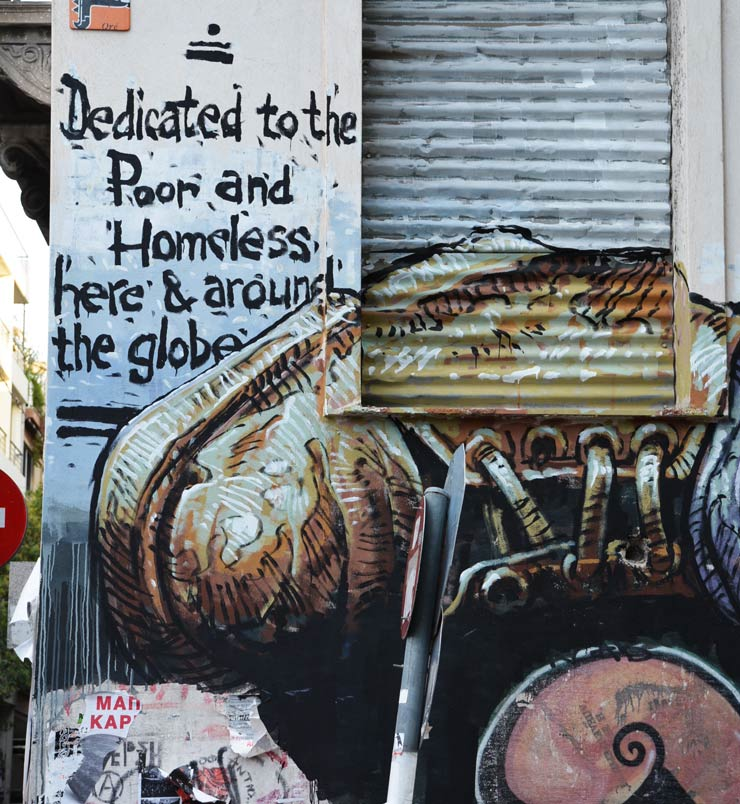 Athens Street Art Reflects Stress of Debt and Suffering of Poor