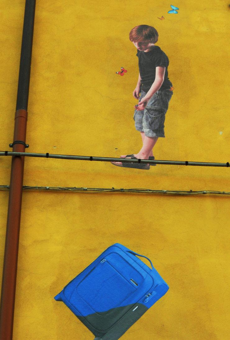 Bifido Walks a Refugee High Wire in San Potito Sannitico (Italy)