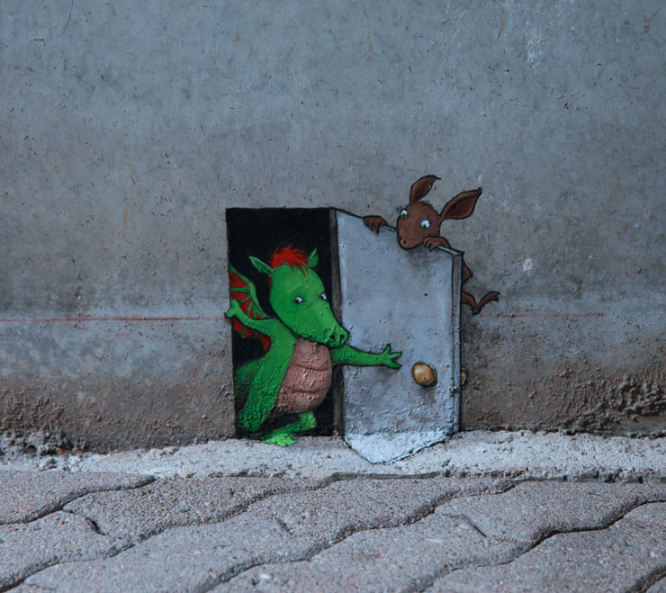 """No Limit"" in Borås, Update 1 : Temporary, Anamorphic David Zinn"
