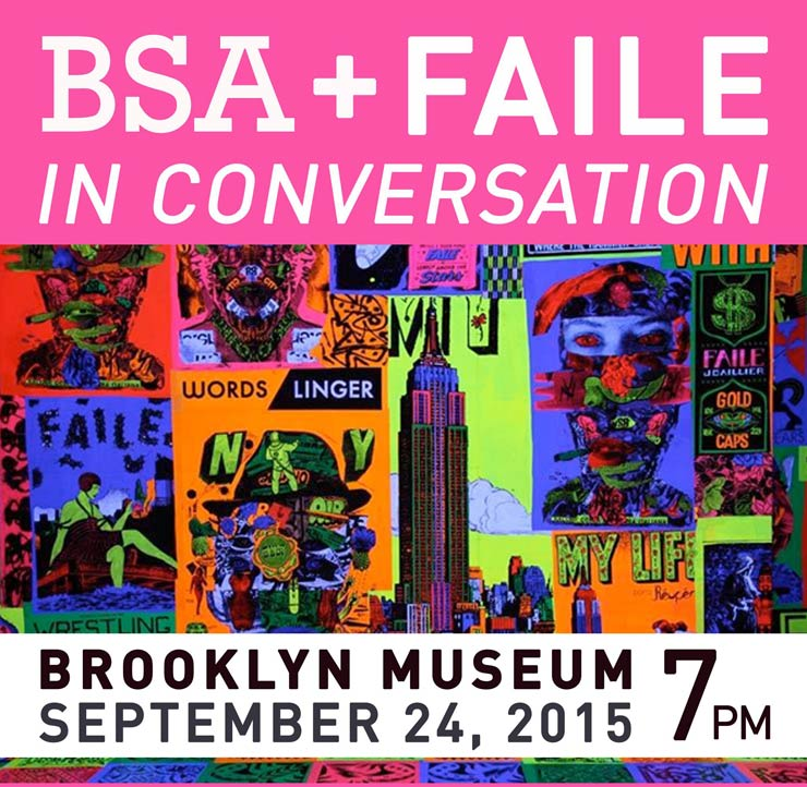 BSA LIVE with FAILE at Brooklyn Museum Today – Live Streaming 7pm EST