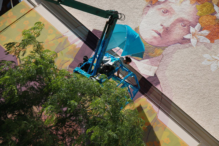 """No Limit"" in Borås: Update 3: Shots of Murals in Process"