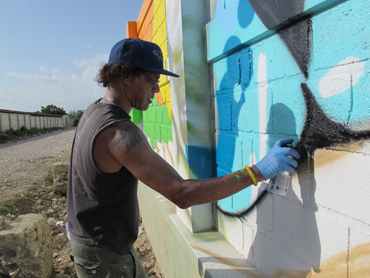 "Daze Does a ""Paix"" Piece in Port Au Prince, Haiti"