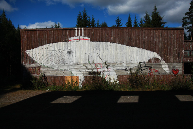 Off the Path: Street Art & Graff in An Old Military Compound in Sweden