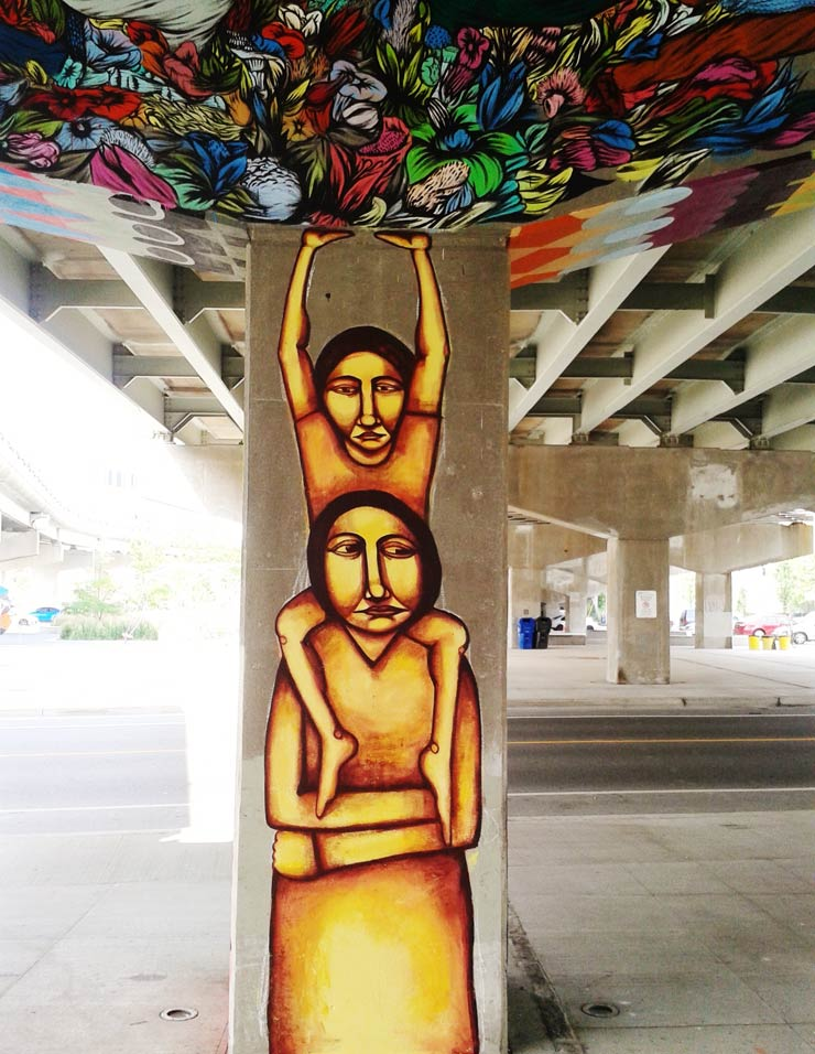 Labrona and Troy Lovegates Holding Up the Toronto Overpass
