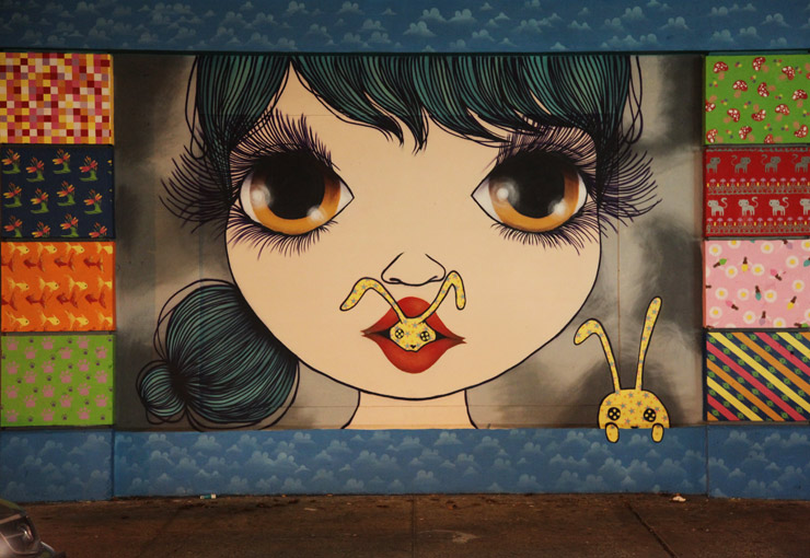 "Nina Pandolfo in New York on a Wall for ""Little Things"""